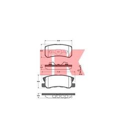 Колодки тормозные дисковые, комплект (Nk) 223025