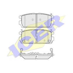 Комплект тормозных колодок, дисковый тормоз (Icer) 181615