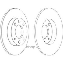 Тормозной диск (Ferodo) DDF1178