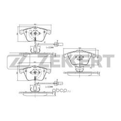 Колодки торм. диск. перед Audi A4 / Avant II III 01- A6 / Avant III 04- (Zekkert) BS1173