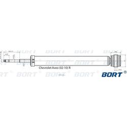 Стойка амортизационная газомасляная задняя (BORT) G41238055