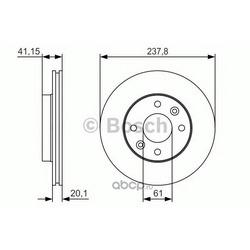 Тормозной диск (Bosch) 0986479R66