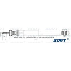 Амортизатор (BORT) G41238056