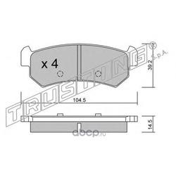 Комплект тормозных колодок, дисковый тормоз (Trusting) 5270