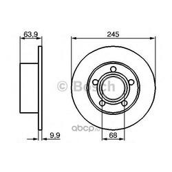 Тормозной диск (Bosch) 0986478132