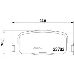 Комплект тормозных колодок, дисковый тормоз (Mintex) MDB2212