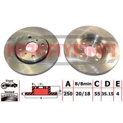 Тормозной диск передний (вент.) CITROEN C1 05-14, (NAKAYAMA) Q4946