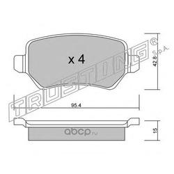 Комплект тормозных колодок, дисковый тормоз (Trusting) 5581