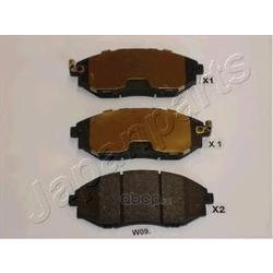 Комплект тормозных колодок, дисковый тормоз (Japanparts) PAW09AF