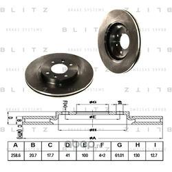 Диск тормозной (Blitz) BS0105