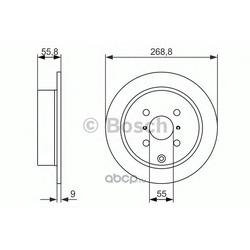 БАРАБАН ТОРМОЗНОЙ (Bosch) 0986479938