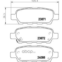 Комплект тормозных колодок, дисковый тормоз (Hella) 8DB355028031