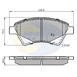 Комплект тормозных колодок, дисковый тормоз (Comline) CBP01160