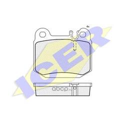 Комплект тормозных колодок, дисковый тормоз (Icer) 181391