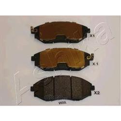 Комплект тормозных колодок, дисковый тормоз (Ashika) 500WW09