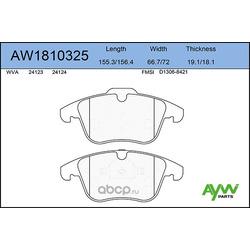 Колодки тормозные передние (AYWIparts) AW1810325