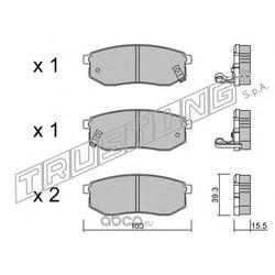 Комплект тормозных колодок, дисковый тормоз (Trusting) 5300