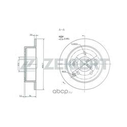 Тормозной диск (Zekkert) BS5273