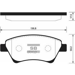 Колодки тормозные передние (Sangsin brake) SP1413