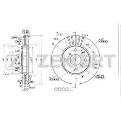 Тормозной диск (Zekkert) BS5415