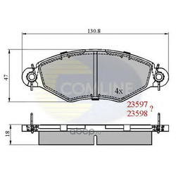 Комплект тормозных колодок, дисковый тормозной мех (Comline) CBP0704