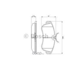Комплект тормозных колодок, дисковый тормоз (Bosch) 0986461147
