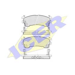 Комплект тормозных колодок, дисковый тормоз (Icer) 180971
