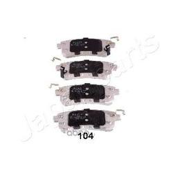Комплект тормозных колодок (Japanparts) PP104AF