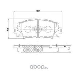 Комплект тормозных колодок, дисковый тормоз (Nipparts) N3602127