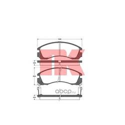 Комплект тормозных колодок, дисковый тормоз (Nk) 223018