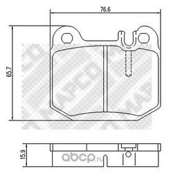 Комплект тормозных колодок, дисковый тормоз (Mapco) 6746