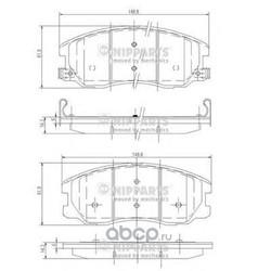 Комплект тормозных колодок, дисковый тормоз (Nipparts) J3600913