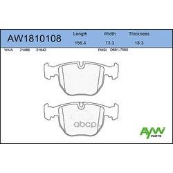 Колодки тормозные передние (AYWIparts) AW1810108