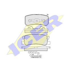 Комплект тормозных колодок, дисковый тормоз (Icer) 181375