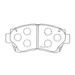 Колодки тормозные дисковые, комплект (Kashiyama) D2088