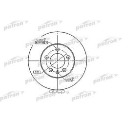 Диск тормозной передний (PATRON) PBD2803