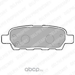 Комплект тормозных колодок, дисковый тормоз (Delphi) LP1807