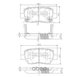 Комплект тормозных колодок, дисковый тормоз (Nipparts) N3614021