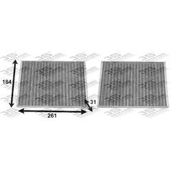 Фильтр салона угольный комплект (JS Asakashi) AC0148CSET