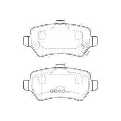 Колодки тормозные дисковые задние, комплект (WAGNER) WBP23417A