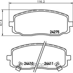 Комплект тормозных колодок, дисковый тормоз (Hella) 8DB355028351