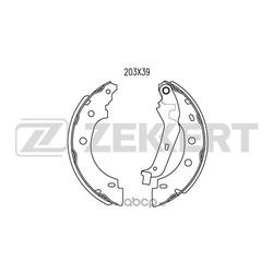 Колодки торм. бараб. зад Nissan Kubistar (X76) 03- Renault Kangoo I 97- (Zekkert) BK4462