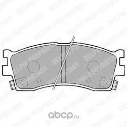Комплект тормозных колодок, дисковый тормоз (Delphi) LP1702