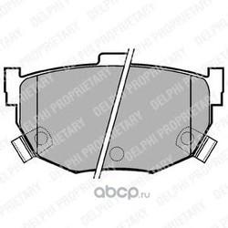 Комплект тормозных колодок, дисковый тормоз (Delphi) LP1073