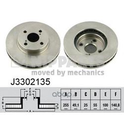 Тормозной диск (Nipparts) J3302135