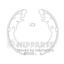 Комплект тормозных колодок (Nipparts) J3504020