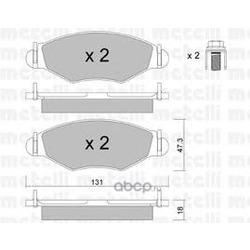 Колодки тормозные дисковые, комплект (Metelli) 2202540