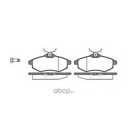 Комплект тормозных колодок, дисковый тормоз (Remsa) 088100