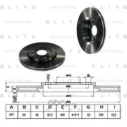 Диск тормозной (Blitz) BS0219