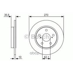 Тормозной диск (Bosch) 0986479S64